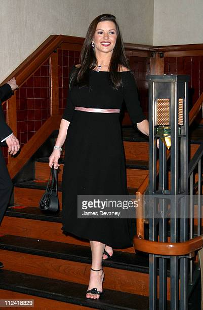 Catherine ZetaJones during Anna Wintour and Harvey Weinstein Cohost Screening of 'Chicago' at Tribeca Grand Hotel in New York City New York United...