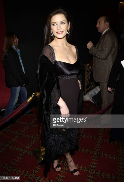 Catherine ZetaJones during 'Chicago' Special Screening to Benefit GLAAD and Broadway Cares Inside Arrivals at Zeigfeld Theater in New York City New...