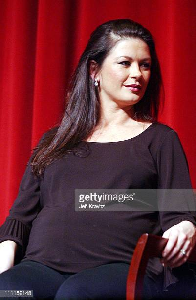 Catherine ZetaJones during Miramax Backsatage West Presents a QA with the cast of Chicago at Directors Guild of America in Los Angeles California...