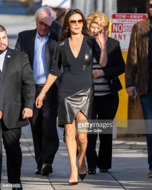 Catherine ZetaJones is seen at Kimmel on February 28 2017 in Los Angeles California