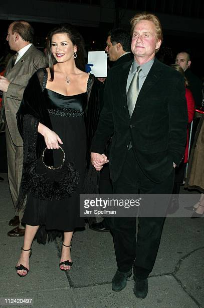 Catherine ZetaJones Michael Douglas during 'Chicago' Special Screening to Benefit GLAAD and Broadway Cares Outside Arrivals at The Ziegfeld Theater...