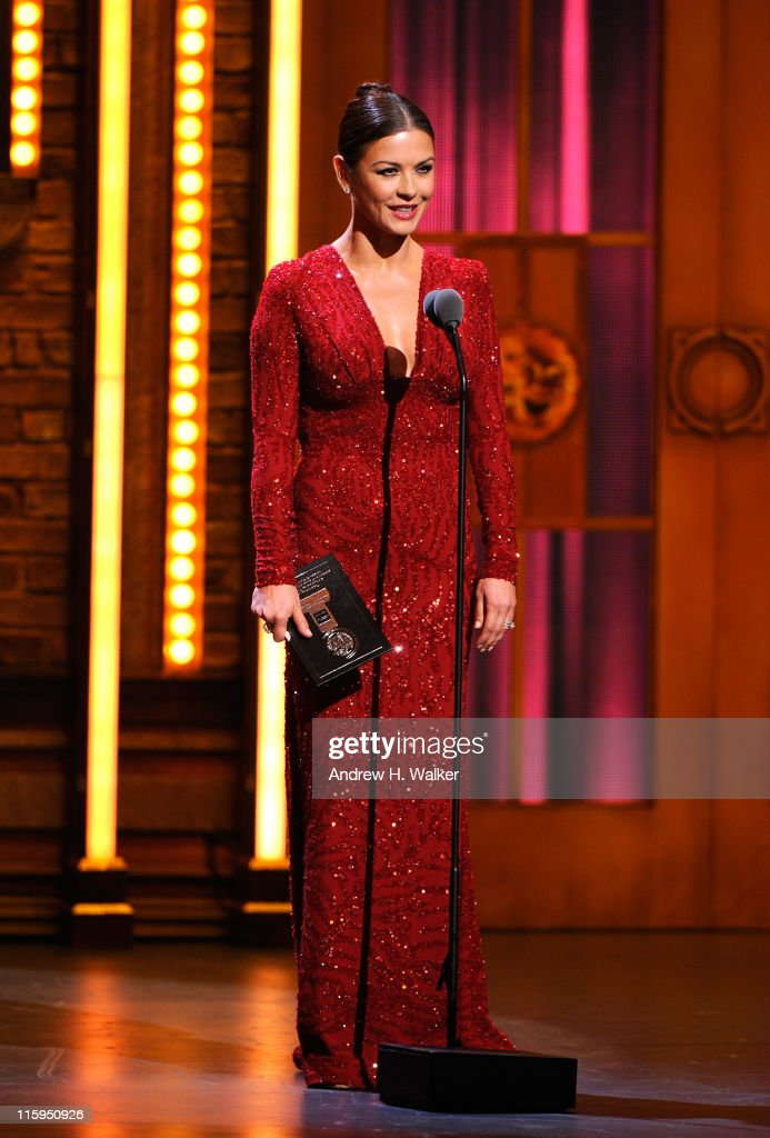 Catherine Zeta-Jones on stage during the 65th Annual Tony Awards at the Beacon Theatre on June 12, 2011 in New York City.