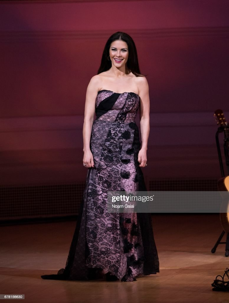 Catherine Zeta-Jones performs during a tribute concert honoring Jimmy Webb at Carnegie Hall on May 3, 2017 in New York City.