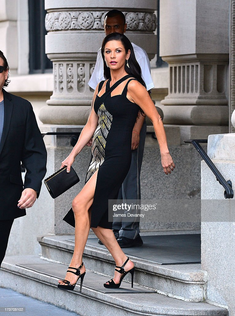 Catherine Zeta-Jones seen on the streets of Manhattan on July 16, 2013 in New York City.