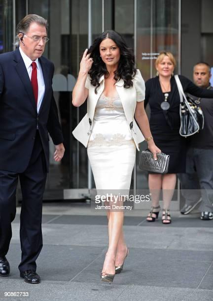 Catherine ZetaJones seen on the streets of Manhattan on September 16 2009 in New York City
