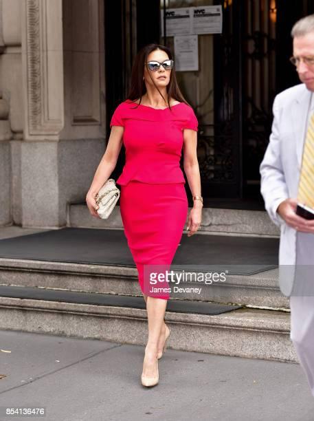 Catherine ZetaJones seen on the streets of Manhattan on September 26 2017 in New York City