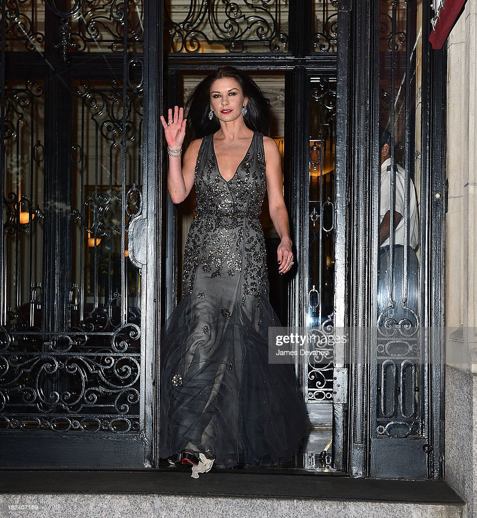 Catherine Zeta-Jones seen on the streets of Manhattan on September 29, 2013 in New York City.