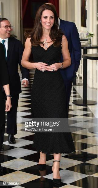CatherineDuchess of Cambridge and Prince William Duke of Cambridge attend a reception at the British Embassy on March 17 2017 in Paris France The...