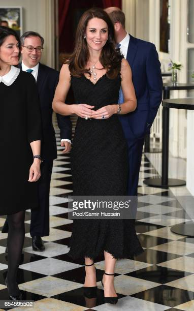 CatherineDuchess of Cambridge attends a reception at the British Embassy on March 17 2017 in Paris France The Duke and Duchess are on a two day tour...