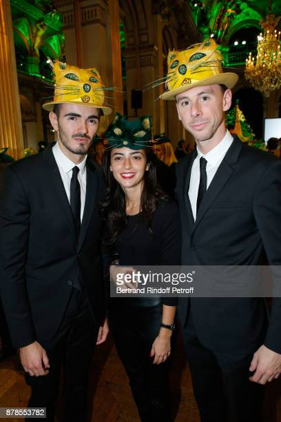Catherinette and Nicolas of Givenchy attend Maisons de Couture of Paris Celebrate SainteCatherine at Mairie de Paris on November 24 2017 in Paris...