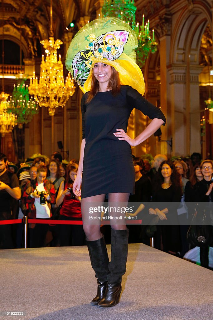 Catherinette from Leonard attends Sainte-Catherine Celebration at Mairie de Paris on November 25, 2013 in Paris, France.