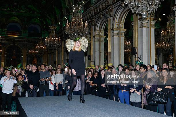 Catherinette from Stephane Rolland attends the SainteCatherine Celebration at Mairie de Paris on November 25 2016 in Paris France At Sainte Catherine...