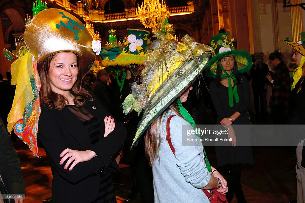 Catherinettes from Chanel attend Sainte-Catherine Celebration at Mairie de Paris on November 25, 2013 in Paris, France.