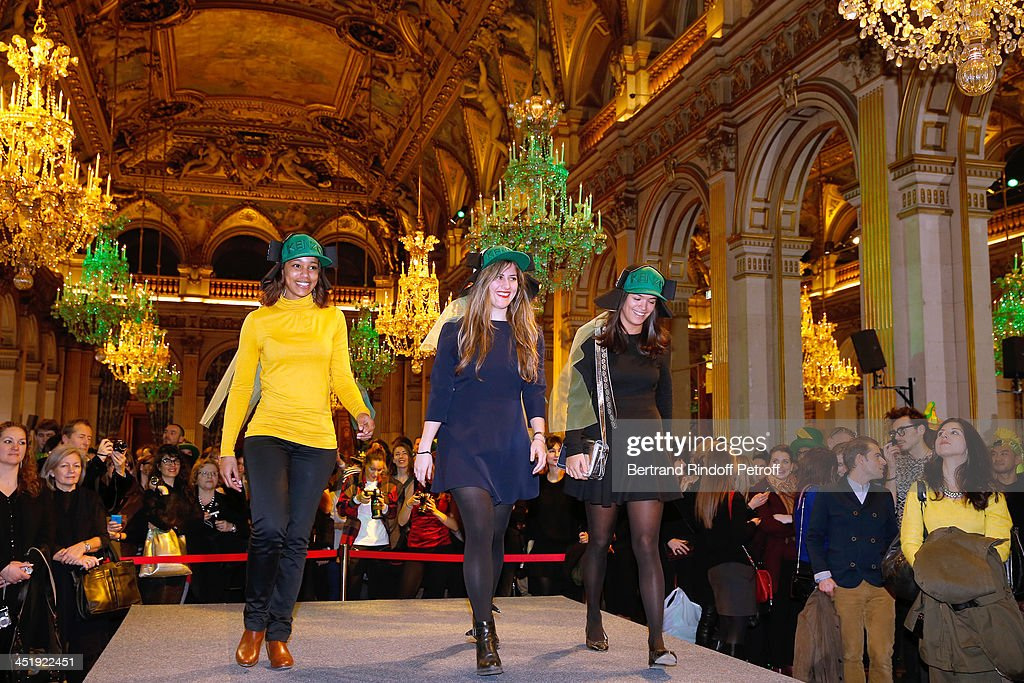 Catherinettes from Kenzo attend Sainte-Catherine Celebration at Mairie de Paris on November 25, 2013 in Paris, France.