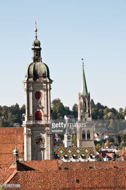 Catholic and Protestant Churches nearby in Saint Gall Switzerland
