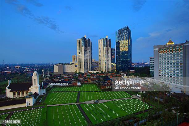 Catholic cemetery in the heart of Jakarta