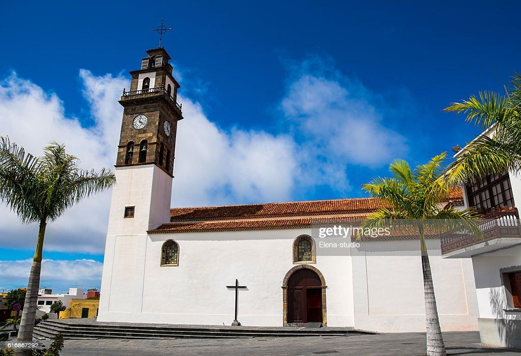 Catholic church, Buenavista del Norte, Tenerife, Canary Islands : Stock Photo