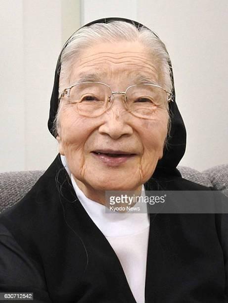 Catholic educator and popular author Kazuko Watanabe shown in this photo taken Aug 24 2016 in Okayama dies of pancreatic cancer on Dec 30 2016 aged...