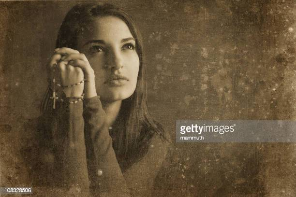 Catholic girl vintage photo