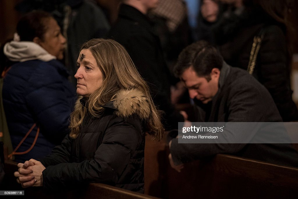 Catholics attend Ash Wednesday mass at St. Patrick's Cathedral on February 10, 2016 in New York City. The day marks the start of the lent for Catholics world wide.