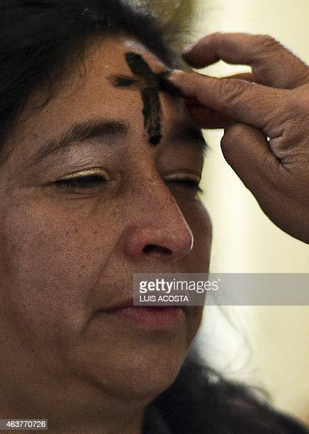 Catholics celebrate Ash Wednesday marking the beginning of Lent a period of penitence for Christians before Easter in Bogota on February 18 2015 AFP...