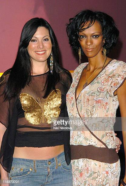 Cathrine McQueen and Judi Shekoni during 'Hell's Kitchen' Day 7 Arrivals at 146 Brick Lane in London Great Britain