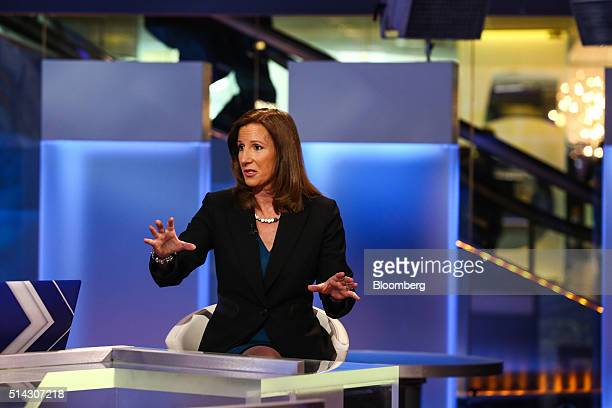 Cathy Engelbert chief executive officer of Deloitte LLP speaks during a Bloomberg Television interview in New York US on Tuesday March 8 2016...