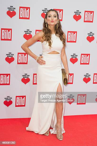 Cathy Fischer attends the Ein Herz Fuer Kinder Gala 2014 at Tempelhof Airport on December 6 2014 in Berlin Germany