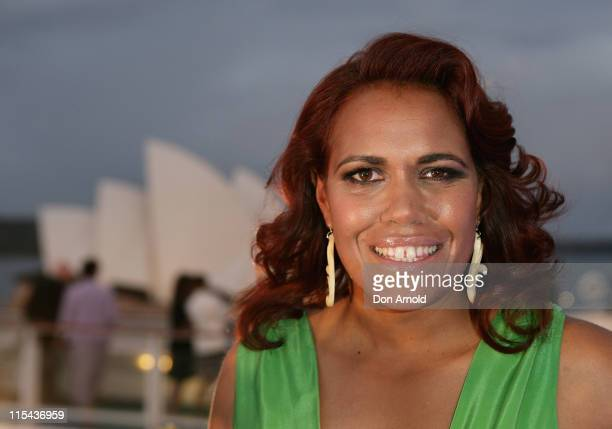 Cathy Freeman attends a naming ceremony for the Pacific Dawn at the Overseas Passenger Terminal on November 8 2007 in Sydney Australia