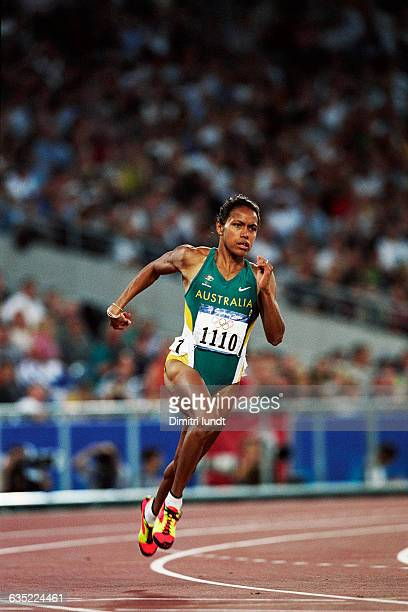 Cathy Freeman from Australia during a women's 400meter heat at the 2000 Olympics