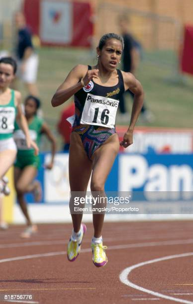 Cathy Freeman of Australia running in the women's 400 metes event during an athletics meet in Birmingham circa 1992