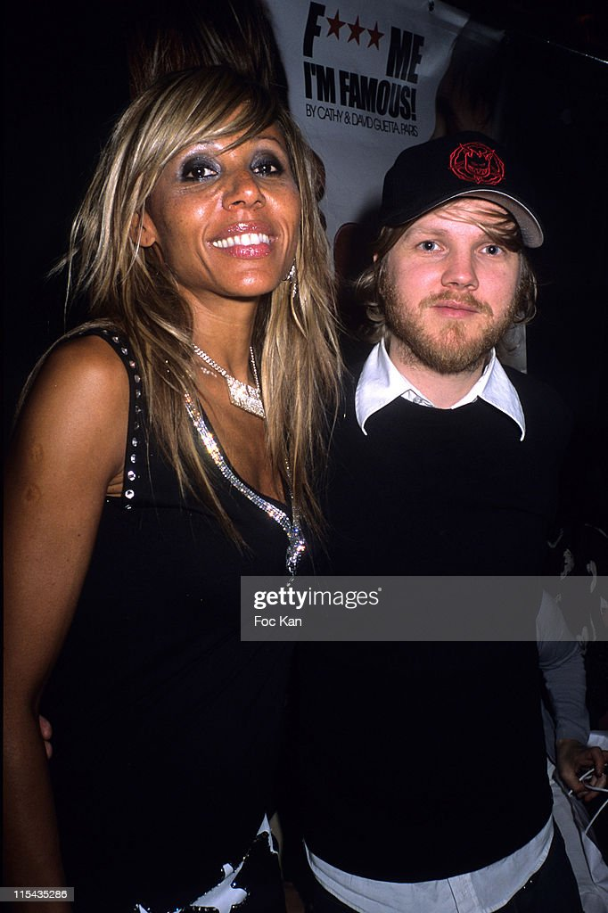 Cathy Guetta and Benoit Poher from the Kyo during Cathy Guetta's Jonhson Party April 28 2006 at Scala Club in Paris France