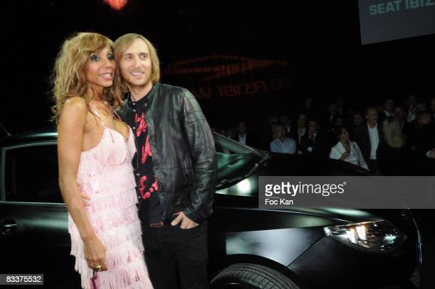 Cathy Guetta and David Guetta attend the David Guetta Seat Ibiza SC Launch Party at the Lido Cabaret on October 2 2008 in Paris France