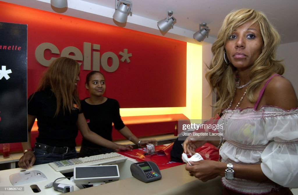 Cathy Guetta shopping during Celio Paris Opening party at ChampsElysees in Paris France