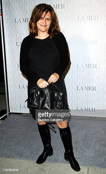 Cathy Horyn attends the La Mer Celebrates 'Liquid Light' By Fabien Baron at The Glass Houses on September 10 2008 in New York City