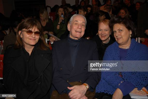 Cathy Horyn Kenneth J Lane Marylou Luther and Suzy Menkes attend the front row at Diane von Furstenberg Fashion Show at DVF Studios on February 8...