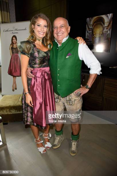 Cathy Hummels and Axel Munz during the Cathy Hummels Hosts Angermaier Event on July 6 2017 in Berlin Germany