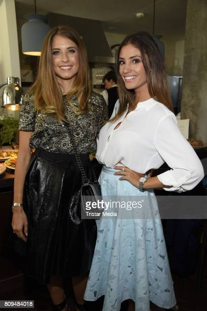 Cathy Hummels and Nadine Menz attend the Klambt Fashion Cocktail in Berlin at Soho House on July 5 2017 in Berlin Germany