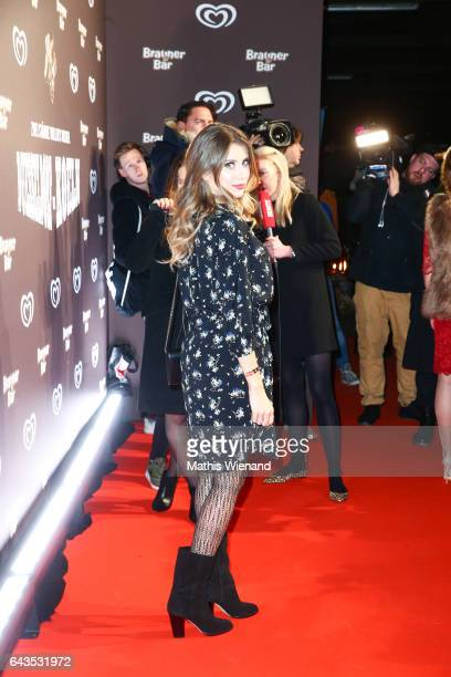 Cathy Hummels attends the comeback party of the ice cream 'Brauner Baer' at Gare du Neuss on February 21 2017 in Neuss Germany