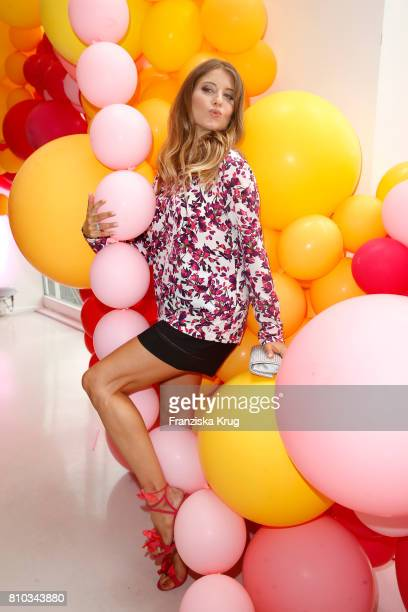 Cathy Hummels attends the Gala Fashion Brunch during the MercedesBenz Fashion Week Berlin Spring/Summer 2018 at Ellington Hotel on July 7 2017 in...
