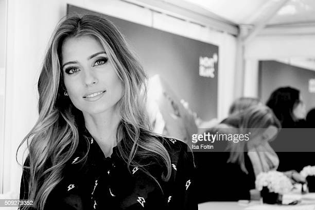 Cathy Hummels attends the Montblanc House Opening on February 09 2016 in Hamburg Germany