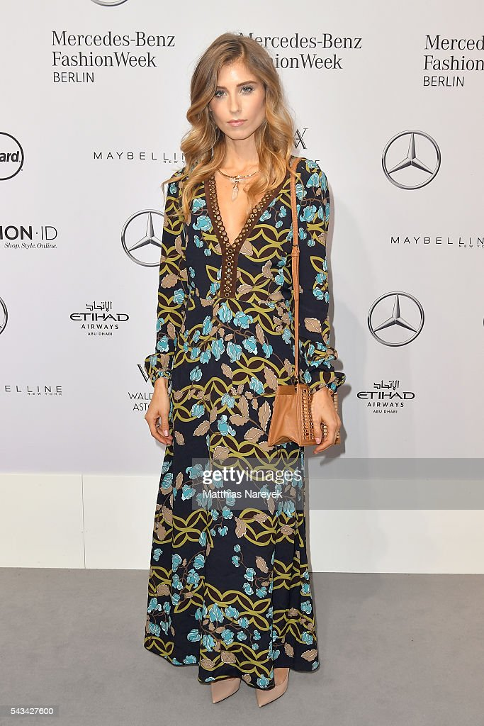 Cathy Hummels attends the Riani show during the Mercedes-Benz Fashion Week Berlin Spring/Summer 2017 at Erika Hess Eisstadion on June 28, 2016 in Berlin, Germany.