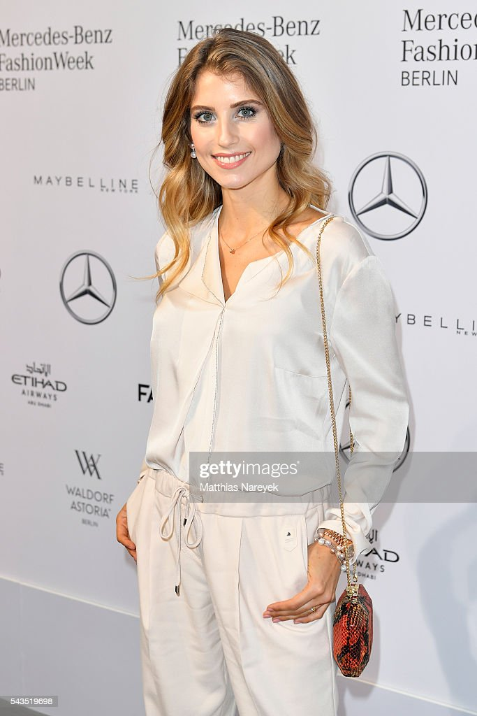 <a gi-track='captionPersonalityLinkClicked' href=/galleries/search?phrase=Cathy+Hummels&family=editorial&specificpeople=8685062 ng-click='$event.stopPropagation()'>Cathy Hummels</a> attends the Sportalm show during the Mercedes-Benz Fashion Week Berlin Spring/Summer 2017 at Erika Hess Eisstadion on June 29, 2016 in Berlin, Germany.