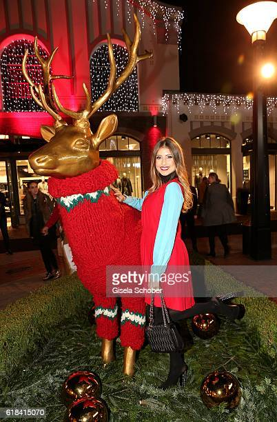 Cathy Hummels during the society shopping event at Ingolstadt Village on October 26 2016 in Ingolstadt Germany