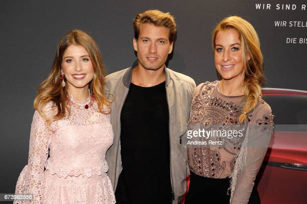 Cathy Hummels Raul Richter and Charlotte Wuerdig attend the spring cocktail hosted by Mazda and InTouch magazine at Mazda Pop UpStore on April 27...