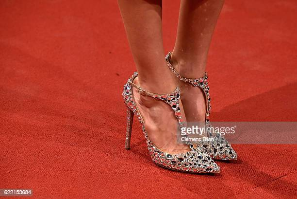 Cathy Hummels shoe detail arrives at the GQ Men of the year Award 2016 at Komische Oper on November 10 2016 in Berlin Germany