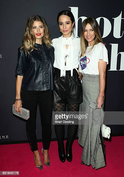 Cathy Hummels Stephanie Stumph and Alexandra Neldel attend the Maybelline Hot Trendsxhbition 2017 show during the MercedesBenz Fashion Week Berlin...