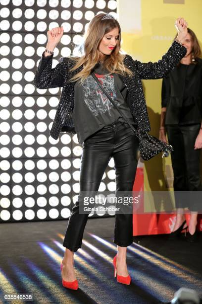 Cathy Hummels wearing an outfit by KONEN during the KONEN Urban Summer Show on February 15 2017 in Munich Germany