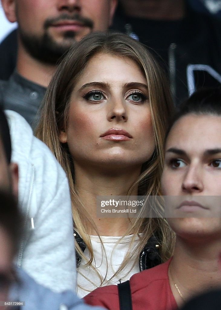 <a gi-track='captionPersonalityLinkClicked' href=/galleries/search?phrase=Cathy+Hummels&family=editorial&specificpeople=8685062 ng-click='$event.stopPropagation()'>Cathy Hummels</a>, wife of Mats Hummels of Germany, looks on during the UEFA Euro 2016 Round of 16 match between Germany and Slovakia at Stade Pierre-Mauroy on June 26, 2016 in Lille, France.