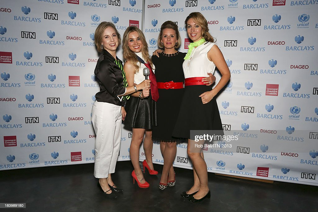 Cathy Jones Polly Whitehouse Emma Crosby and Sian Welby from C5 news attend the annual Newsroom's Got Talent event to raise money for the Leonard...